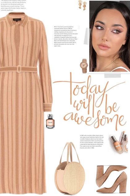 How to wear a Striped Belted Long Sleeve Dress!