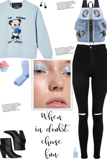 How to wear a Graphic Print & Text Sweatshirt!