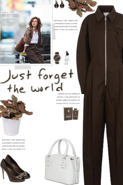How to wear Zipper Detail Long Sleeve Jumpsuit!