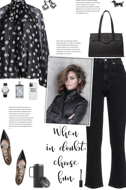 How to wear a Polka Dot Semi-Sheer Blouse!