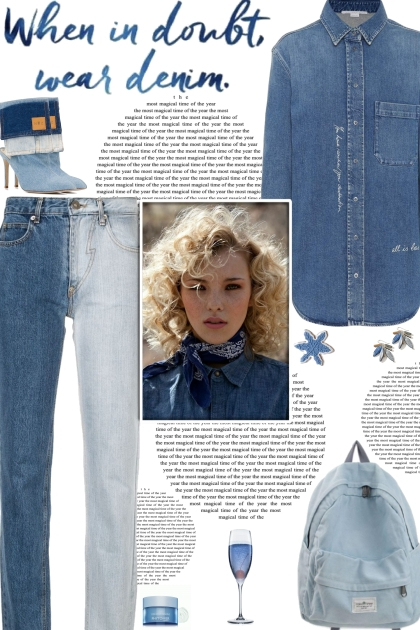 How to wear Two-Toned Straight Leg Jeans!