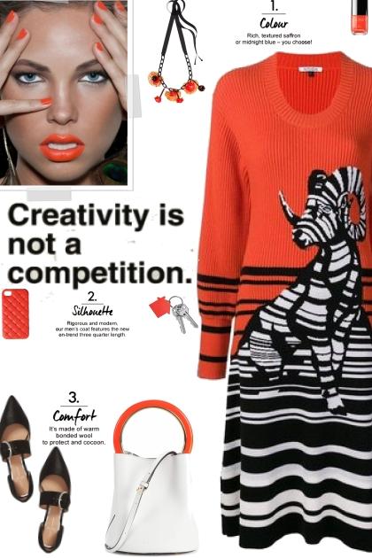 How to wear a Striped Graphic Knit Dress!