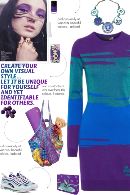 How to wear a Color Block Knit Long Sleeve Dress!