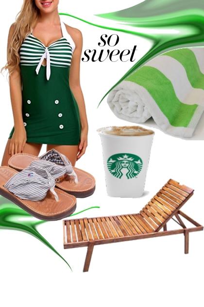 Swimsuit Stripe Green