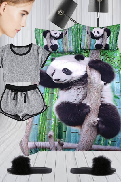 3D Bedding Panda Set