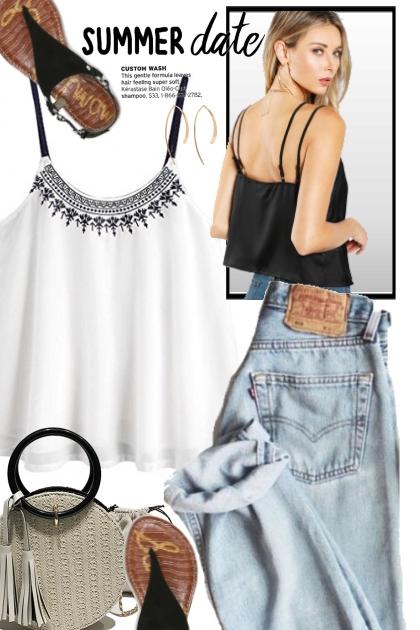 Cute White Summer Top