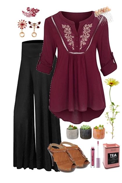 Burgundy Boho