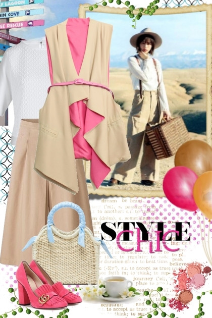 Beige and Pink