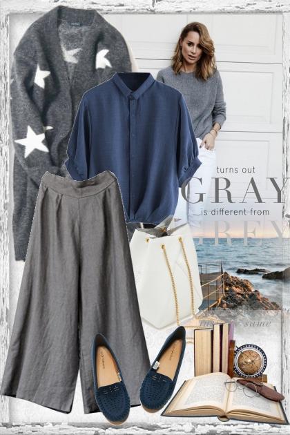Grey & Navy blue- Kreacja