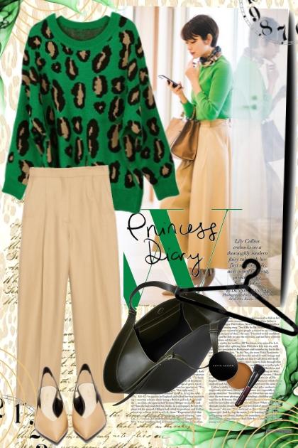 Leopard sweater- Modekombination
