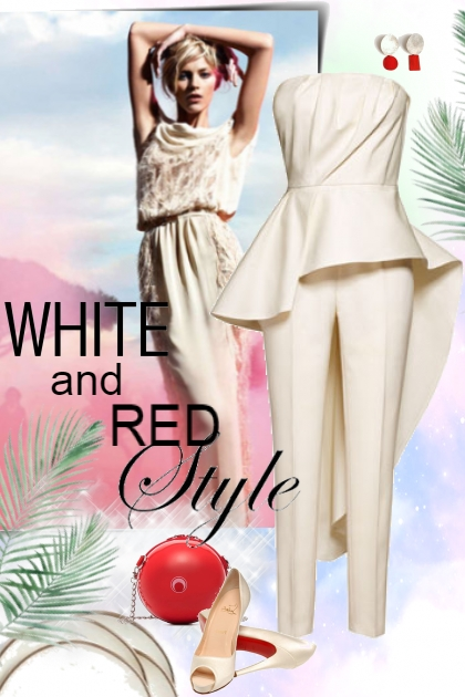 White and red