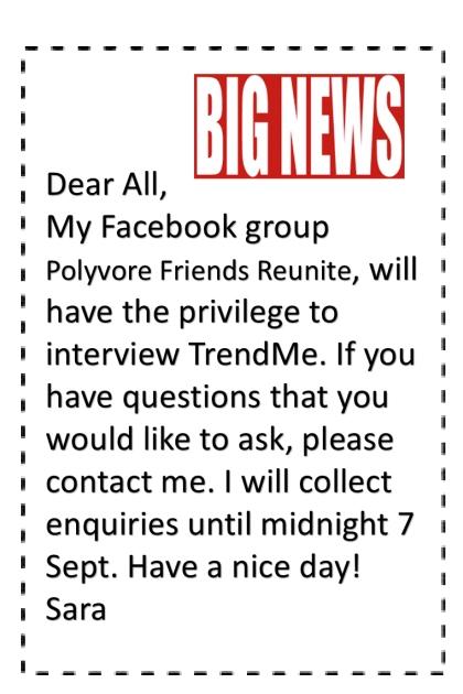 TRENDME INTERVIEW