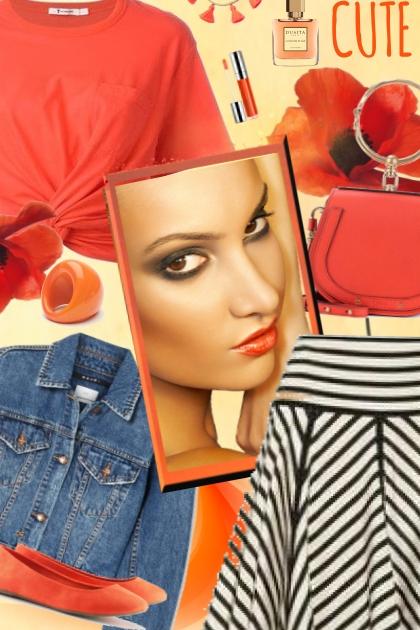 orange moments- Fashion set
