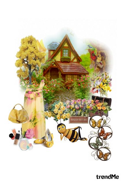 cottage with flowers