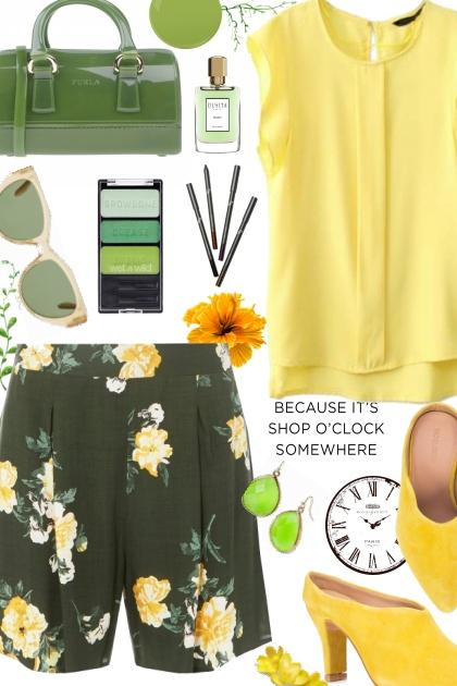 Green Floral- Combinazione di moda
