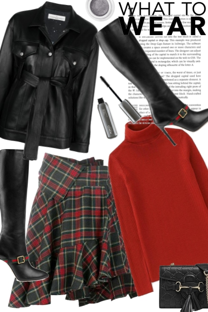 A Touch Of Leather- Fashion set