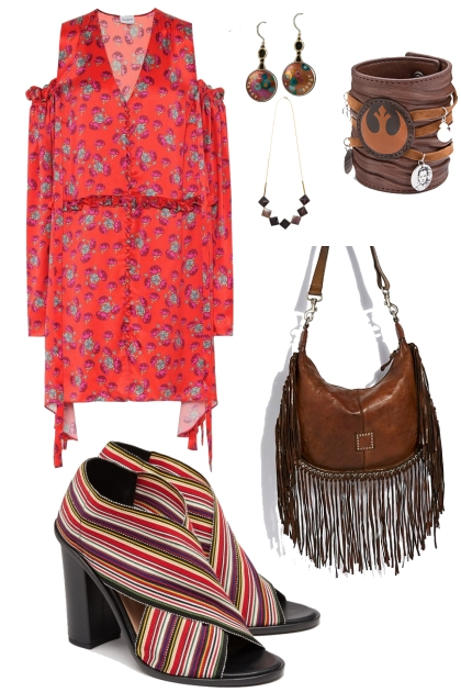 Inverted triangle bohemian weekend
