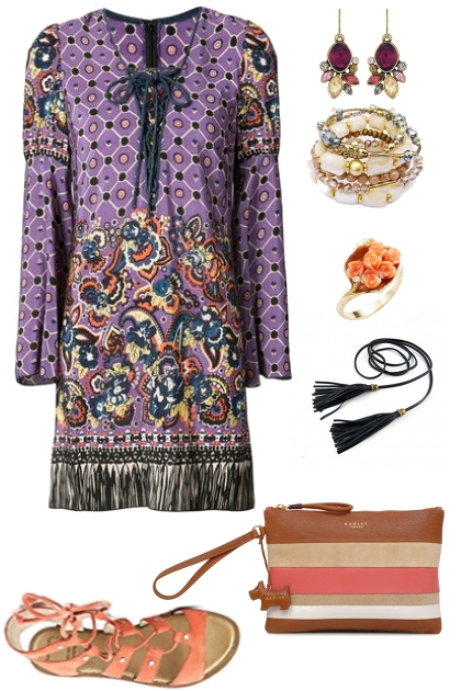 Inverted triangle bohemian evening