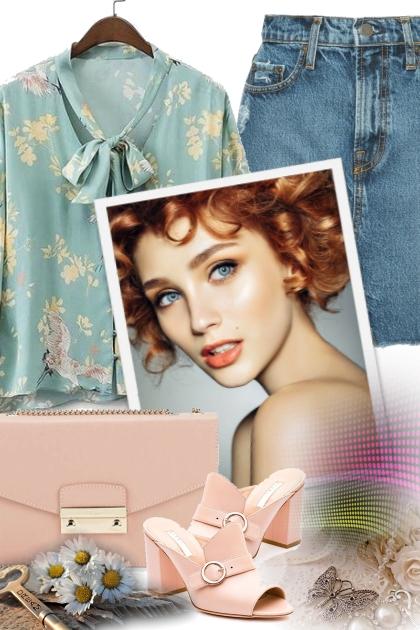 Floral blouse- Fashion set