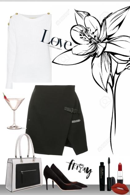 black and white on friday- Modekombination