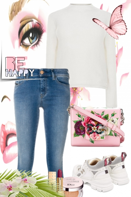 BE HAPPY- Modekombination