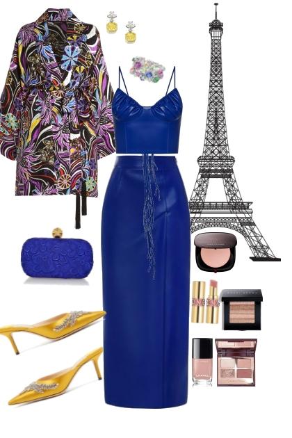 Bleu Evening in Paris