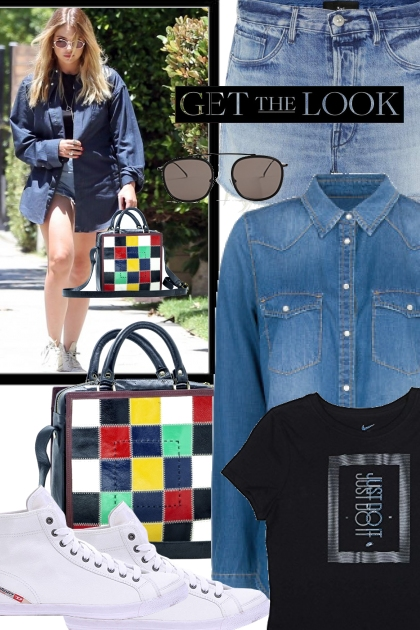 Ashley Benson - Patchwork hand bag