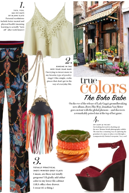 Boho Outfit - True Colors, the Boho Babe