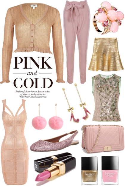 Pretty in Pink - Pink & Gold