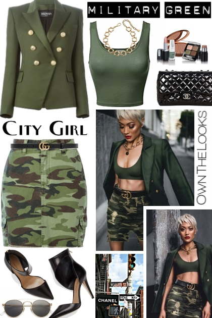 Military Green..Get the Look- Combinaciónde moda