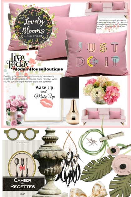 lovely blooms in all the rooms- Fashion set