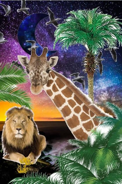 sunt set in the jungle