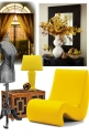 BLACK AND YELLOW HOME DECOR