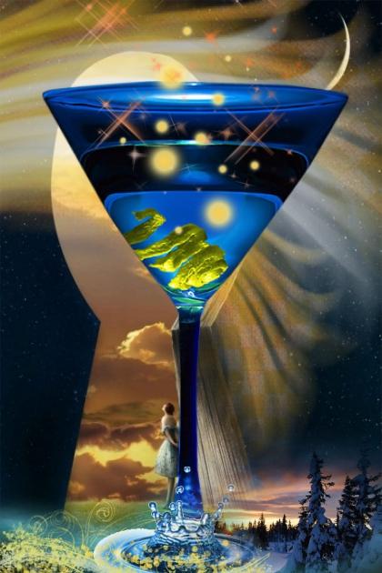 moon lime martini