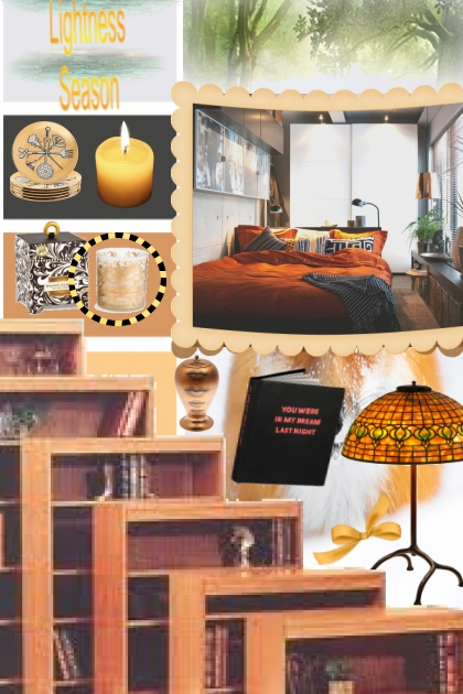 orange and black bedroom