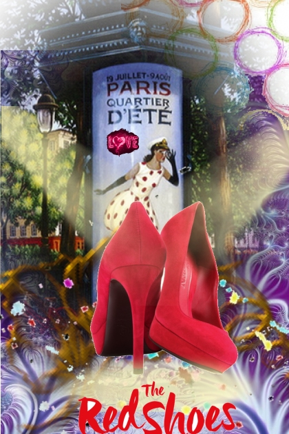 spot lighted red heels