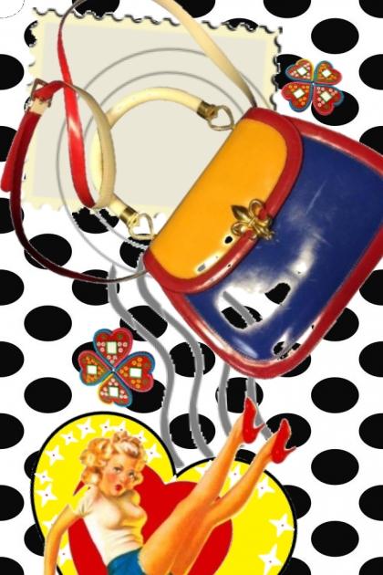 pose with da pop art purse
