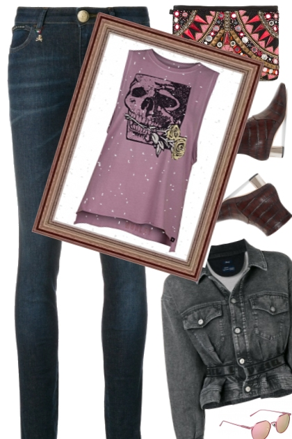 denim meets the skull of roses