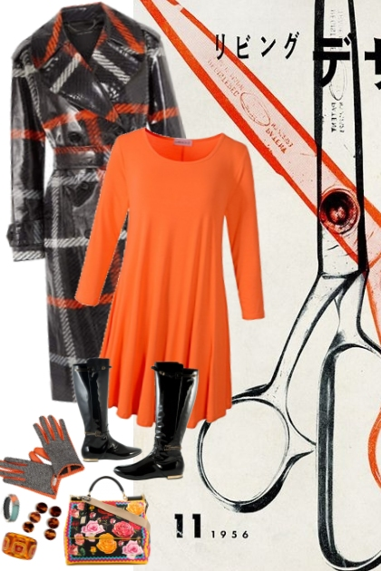 orange n black style attack