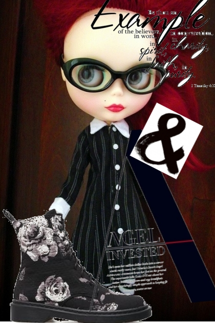 rose vrs doc in black n white