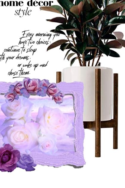 framed in purple