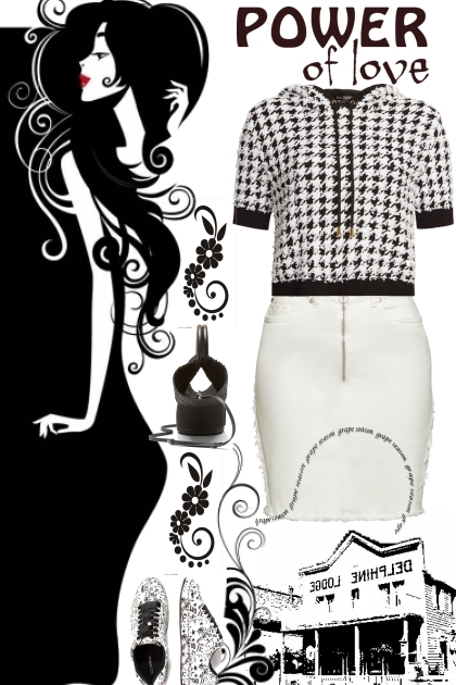 black n white love