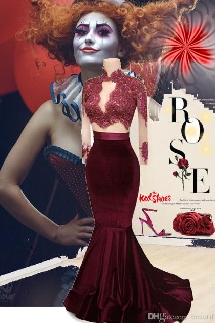 red shoe rose
