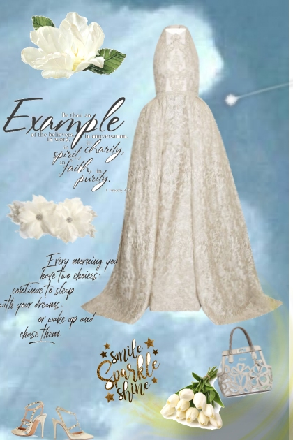 creme colored lace - Fashion set