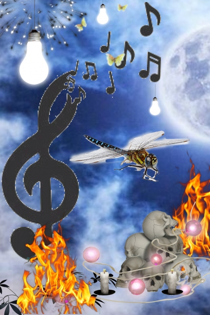 fire - flys @ night