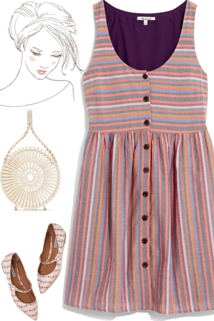 casual pink stripes
