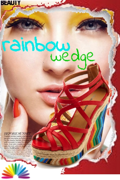 rainbow wedge