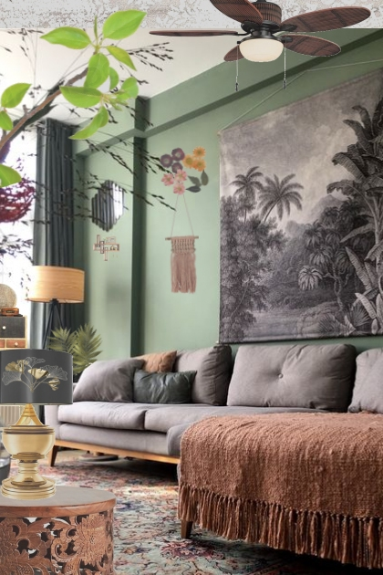 a warm tropical feel 2 your living room