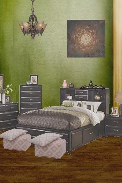 dark bed room