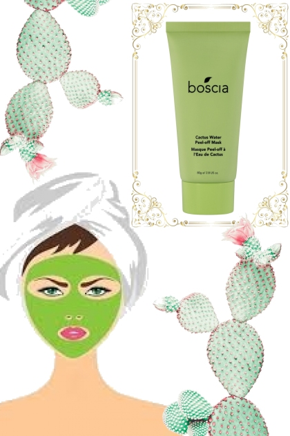 renew w/ a cactus peel off mask